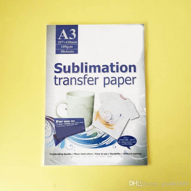 50 Sheets A3 size Sublimation heat transfer paper,100gsm paper,usage in Clothing,T-shirt, Cup,Pillow etc