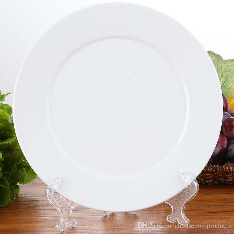 2018 9 Inch Factory Direct Sale Low Price Plates White Dinner Plates Kitchenware Porcelain Round Dinnerware Salad Dessert Plates From Ahouseholdproducts ... & 2018 9 Inch Factory Direct Sale Low Price Plates White Dinner Plates ...