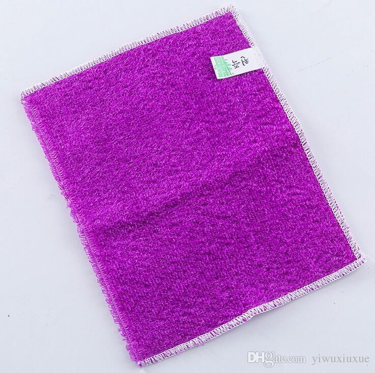 Hotsale أدوات التنظيف المنزلية الملونة متعددة الوظائف غير عصا النفط ماجيك ألياف الخيزران تنظيف الملابس منشفة طبق غسل تجوب منصات