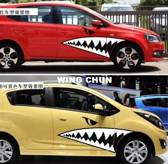 Best sharks mouth shark car stickers personalized car stickers funny car modified off road vehicles converted stickers ap 037 under 12 57 dhgate com