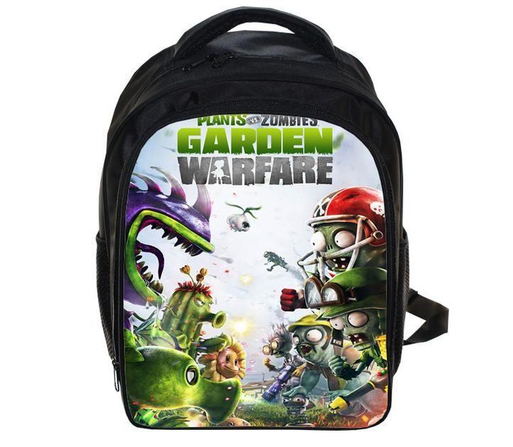 Kindergarten Kids Backpacks Cartoon Plants Vs Zoombies School Bags Students Bookbags  Backpack Boys Girls Rucksack Travel Bags School Bags Children Backpacks ... fa1c9ffe4e