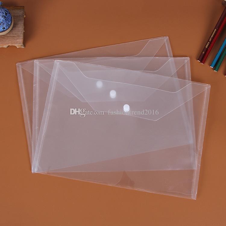 حقيبة ملف A4 مجلدات بلاستيكية شفافة وثيقة عقد الحقائب تخزين الورق مكتب اللوازم المدرسية