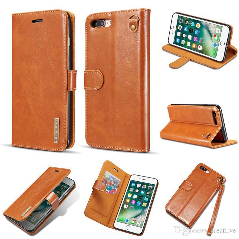 Carteira de melhor qualidade delicadeza pu leather phone case com slot para cartão para iphone x 8 plus 7plus nota 8 s8 além de protetor da tampa do caso