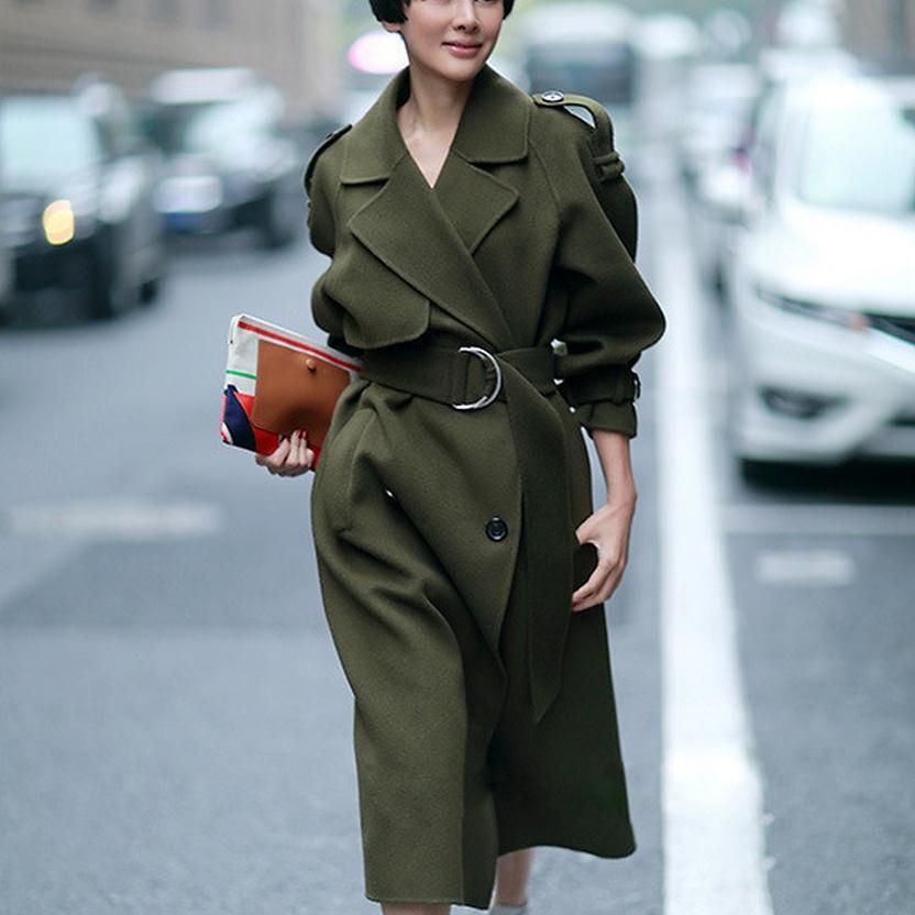 Cool Green 2017 New Design Winter Coat Women Wool Coat Trench ...