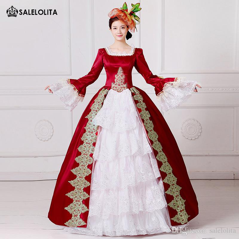 197d455f050e 2017 Brand New Red Embroidery Marie Antoinette Dress Civil War Southern  Belle Masquerade Ball Gown Reenactment Women Clothing Unique Halloween  Costumes Good ...