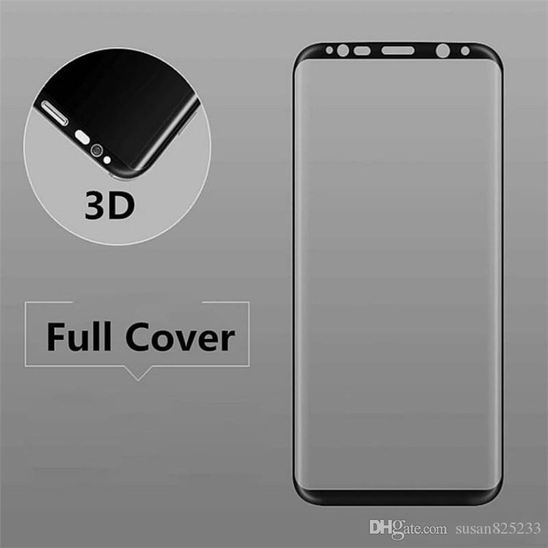 High Quality Tempered Glass 3D Full Cover Curved Screen Protector For Samsung Galaxy S8 Plus S6 S7 Edge Colorful And Full Clear Transparent