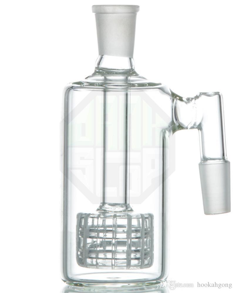 Variété de crochets de verre épais 90 degrés cendres avec la matrice de torche stéréo PERC 14 mm joints angle droit pour mini bongs gigognes à huile Accessoires fumeurs