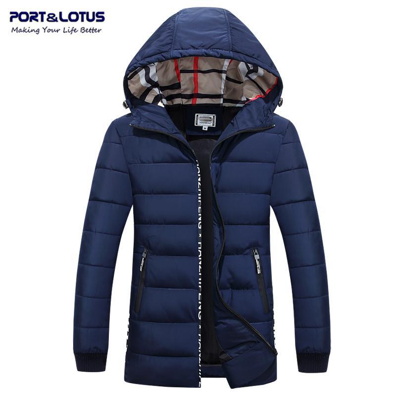 0cbd88c05f520 Satın Al Toptan Satış PortLotus Parka Erkek Ceket Kış Marka Giyim Ceket  Erkekler İnce Erkek Mont Sıcak Erkek Kış Ceket Kapşonlu Erkek Ceket 065  6625, ...