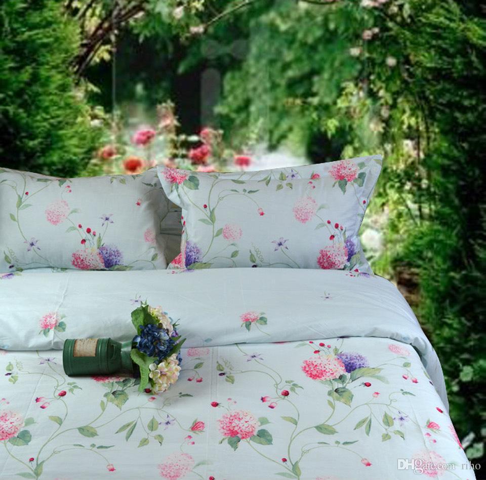 Riho 4 Piece Pima Cotton Rural Floral Rose Elegant Comfortable Bedding Sets Bedding  Sheets Bed In A BagLefu Cotton Bedding Sets Cotton Bed Sheets Cotton ...