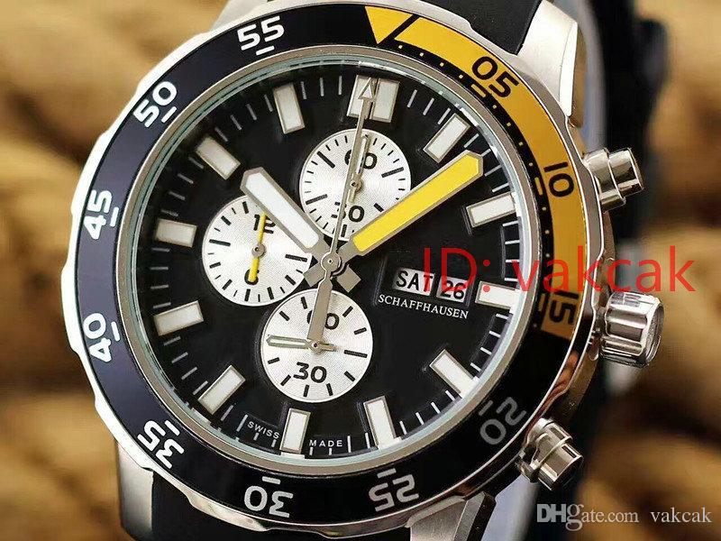 Atrás Marca de lujo para hombre reloj de cuarzo reloj suizo de los hombres piloto ROYALOAK OFFSHORE correa de caucho de acero de oro rosa para hombre fecha del deporte relojes de pulsera