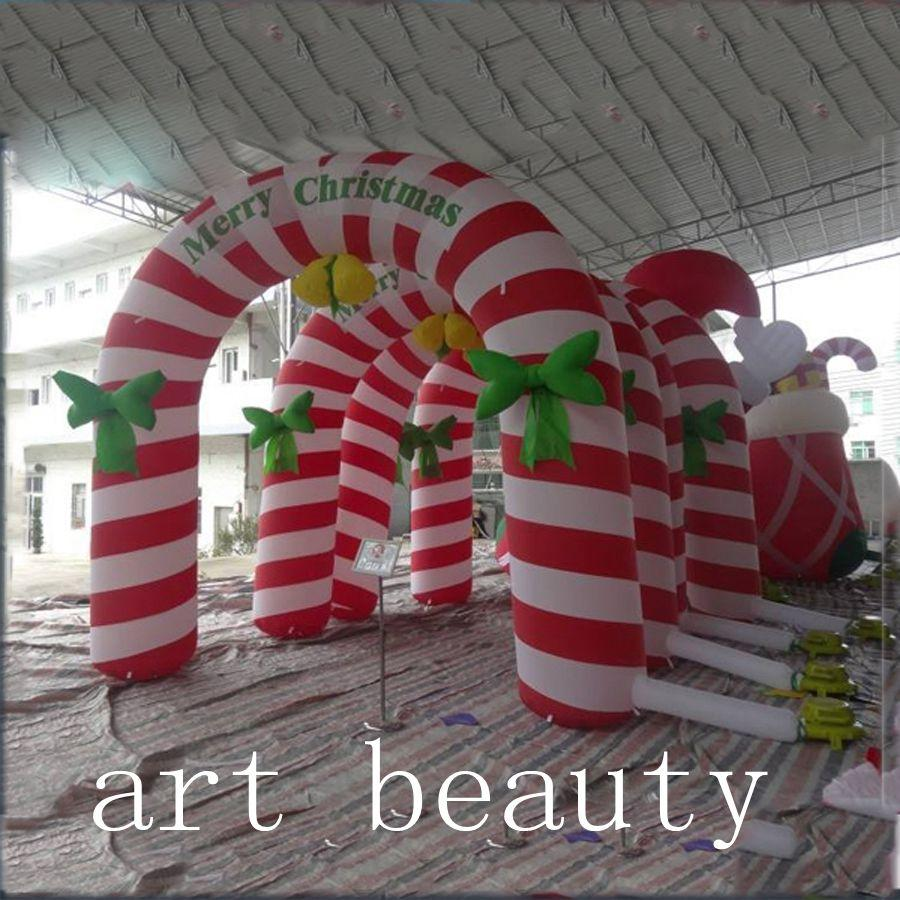 2017 Merry Christmas Arch/Lovely Inflatable Candy Arch/Printing ...
