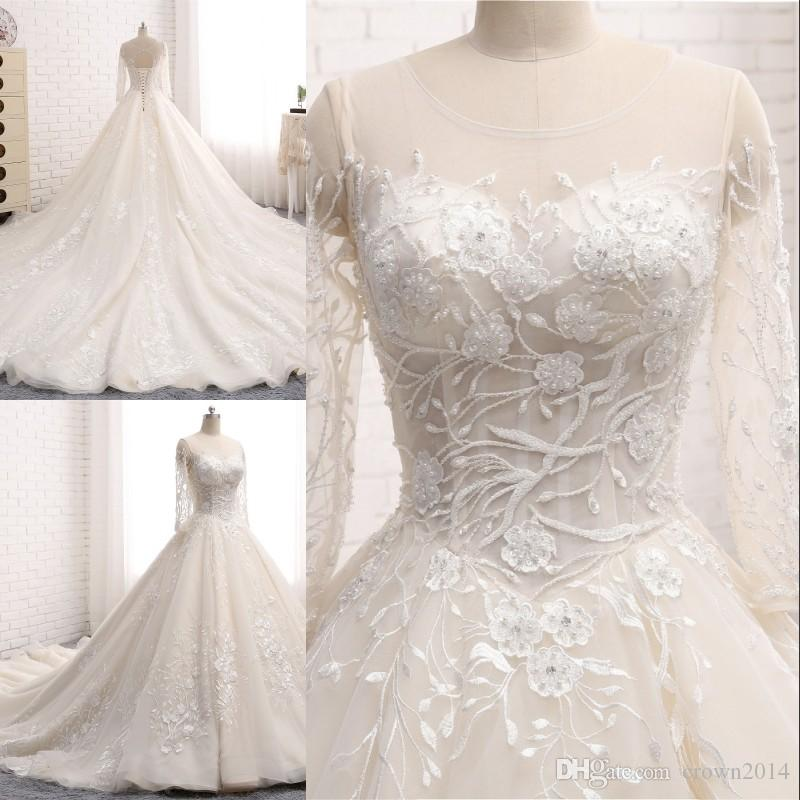 Floral Tulle Wedding Dress