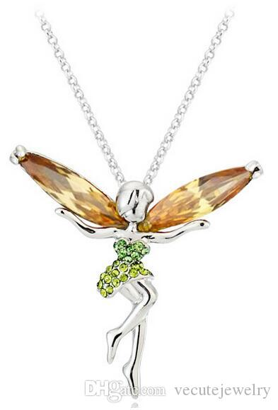 Buy Cheap X Crystal Gold Plated Crystal Angel Necklace Engagement & Wedding