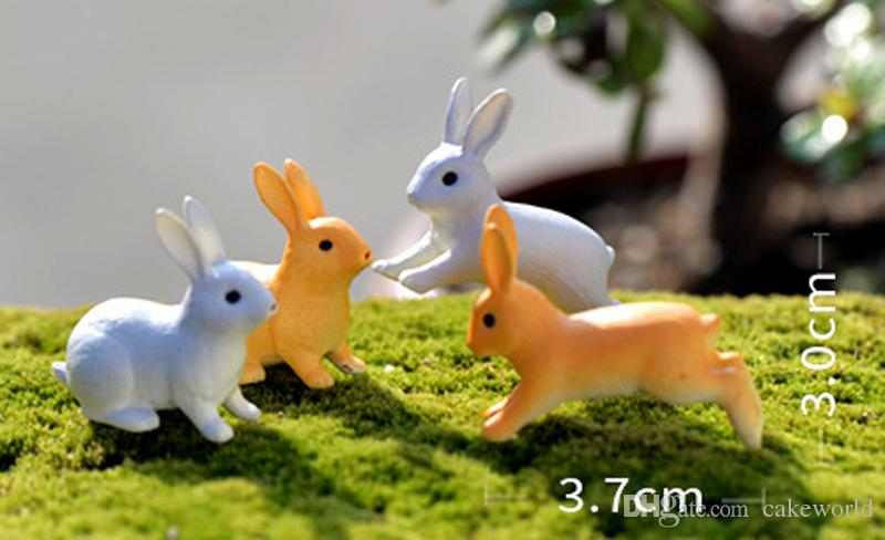 2018 rabbit garden figurines gnomes for terrariums resin for Figurine decoration jardin