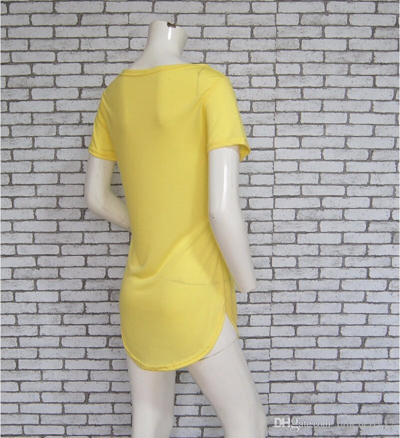 Hot sale Plus Size Women Tee Tops Short Sleeve Cotton Tunic T-Shirt Loose Casual O-Neck Long T Shirt Camisetas Mujer Poleras Mujer free ship