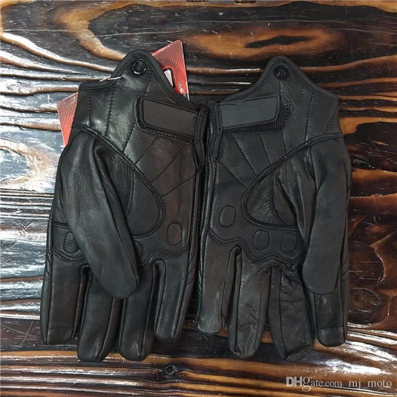 2017 de Alta calidad de Motocross Guantes de Cuero Completo Dedo Hombres Guantes de Moto Guantes de Moto de Protección Moto Street Racing Guante Luvas