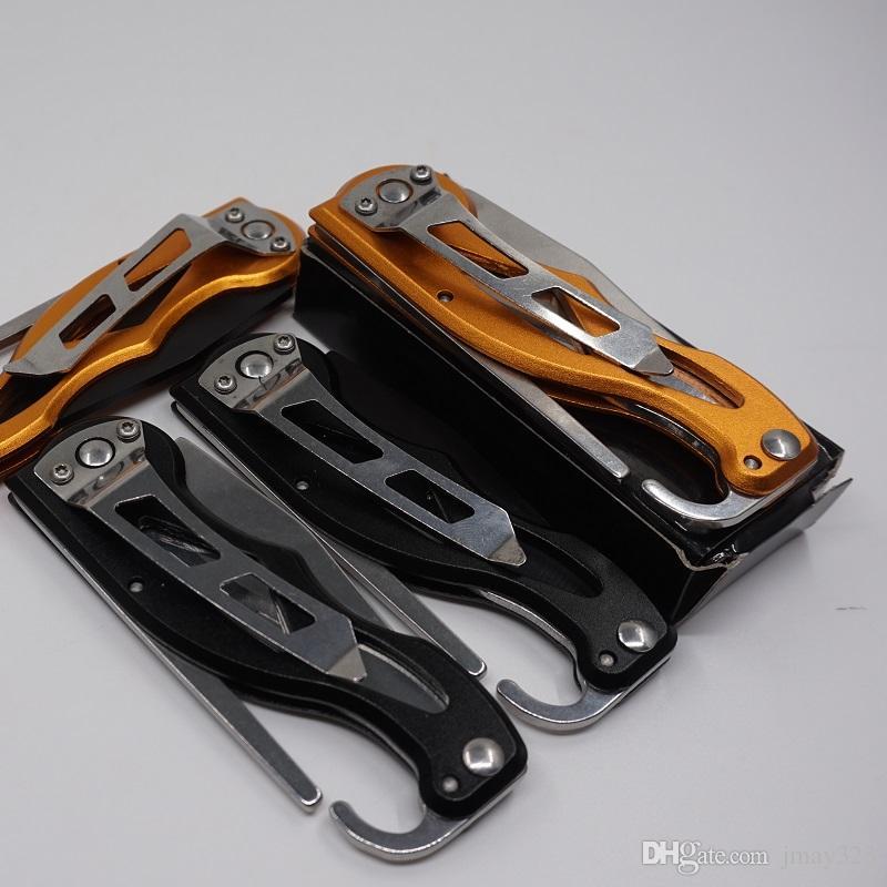2017 El más nuevo cuchillo de bolsillo Cuchillo plegable Cuchillo de camping Senderismo Cuchillos de supervivencia con llavero 440C Hoja de acero Mango de aluminio Al aire libre Herramienta EDC