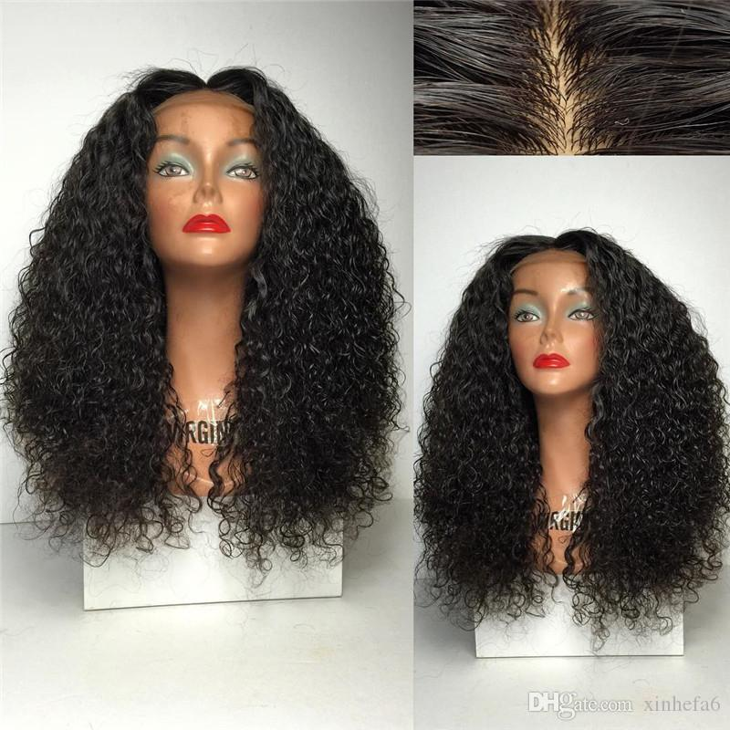 "180% Density Full Lace Human Hair Wigs Pre Plucked With Baby Hair 8""-26"" Curly Brazilian Remy Hair Wigs For Black Women"