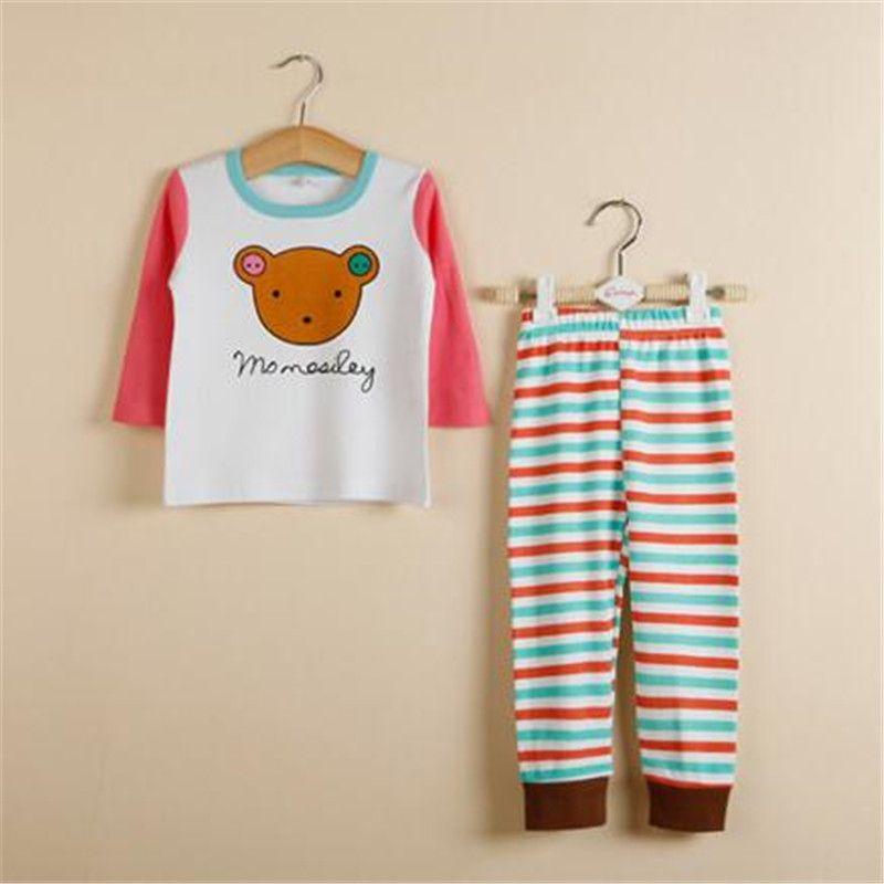 05088141d1c7 Girls Clothing Kids Pajamas Set Girl s Cartoon Household to Take Boy ...