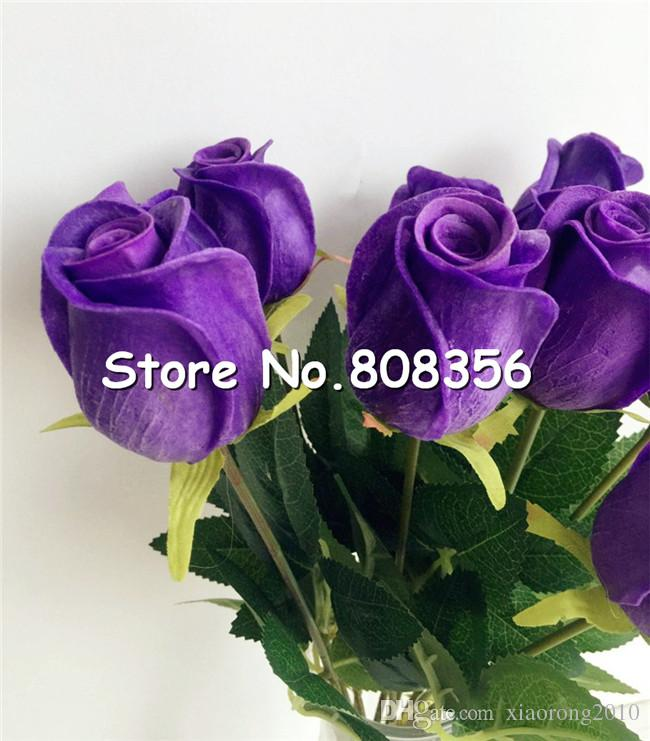 one Real Touch Rose Simulated Fake Latex Roses 43cm Long for Wedding Party Artificial Decorative Flowers