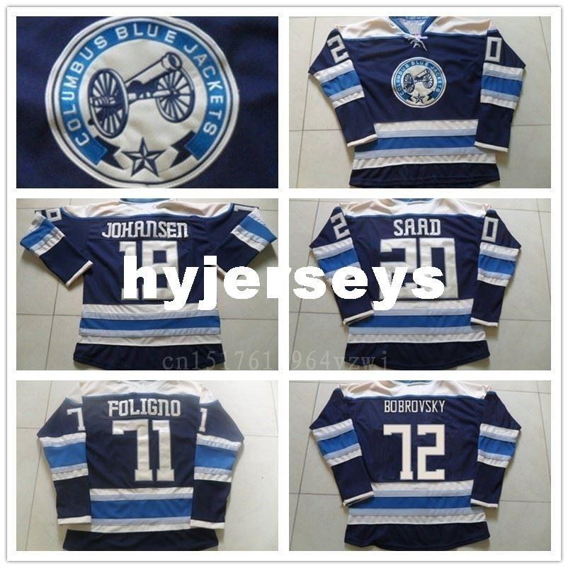 491d4f09 ... 72 Sergei Bobrovsky 100 2017 2016 New 20 Brandon Saad Jersey Columbus  Blue Jackets Ice Hockey Jerseys Sport 19 Ryan ...