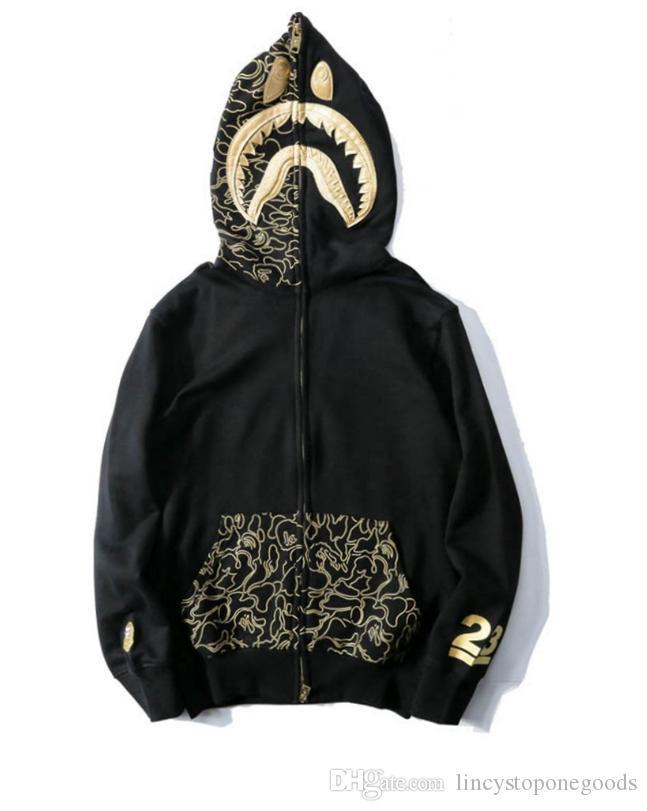 3ceb1bf43 Compre Hombres Mujeres Sportwear Escudo Jogger Chándal Pullover Fleece  Sudadera Cuello Redondo OVO Drake Negro Hip Hop Stusay Sudadera Con Capucha  Tiburón ...