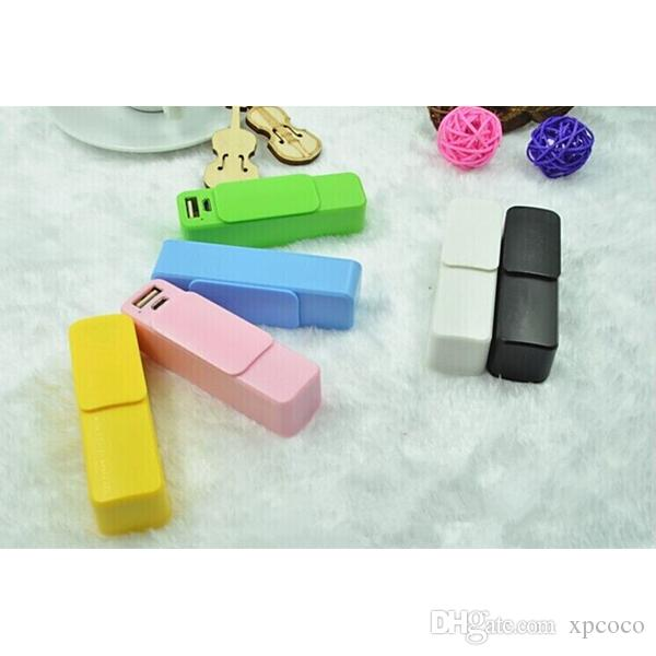 2600MAH portable mini slide lid perfume mobile power, push pull type key buckle,easy to carry