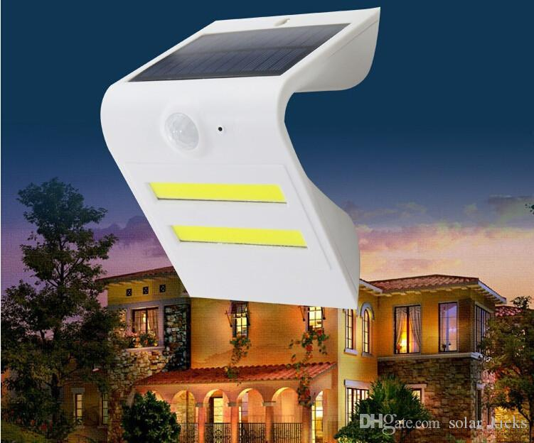 LED Solar Wall Lamp IP65 Waterproof Outdoor Garden Lamp Double Light Source With Motion Sensor PIR Pathway