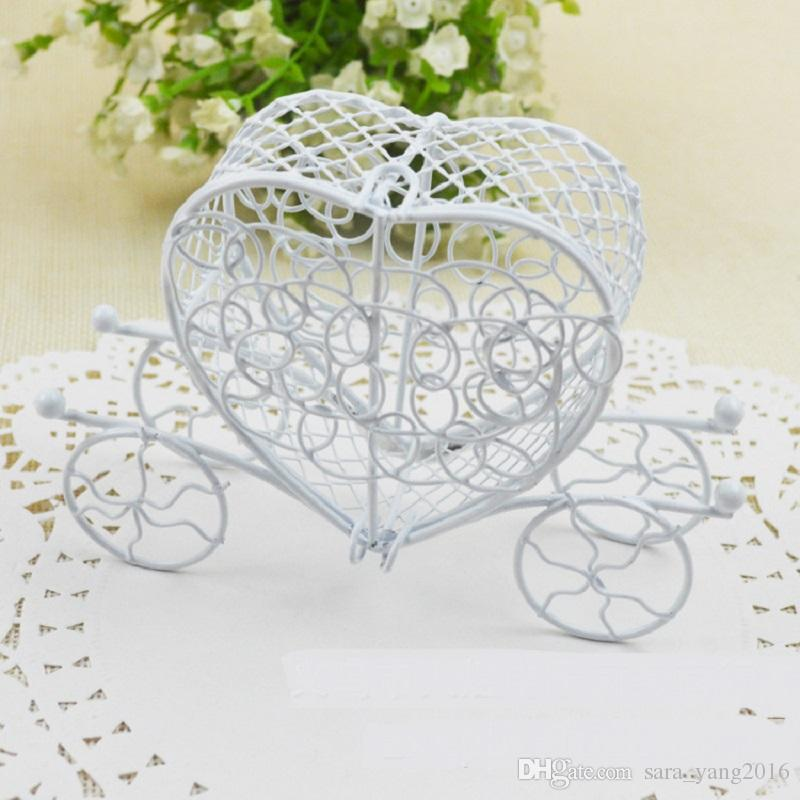 Iron Carriage White Color Wedding Favor Box Party Gift Favor