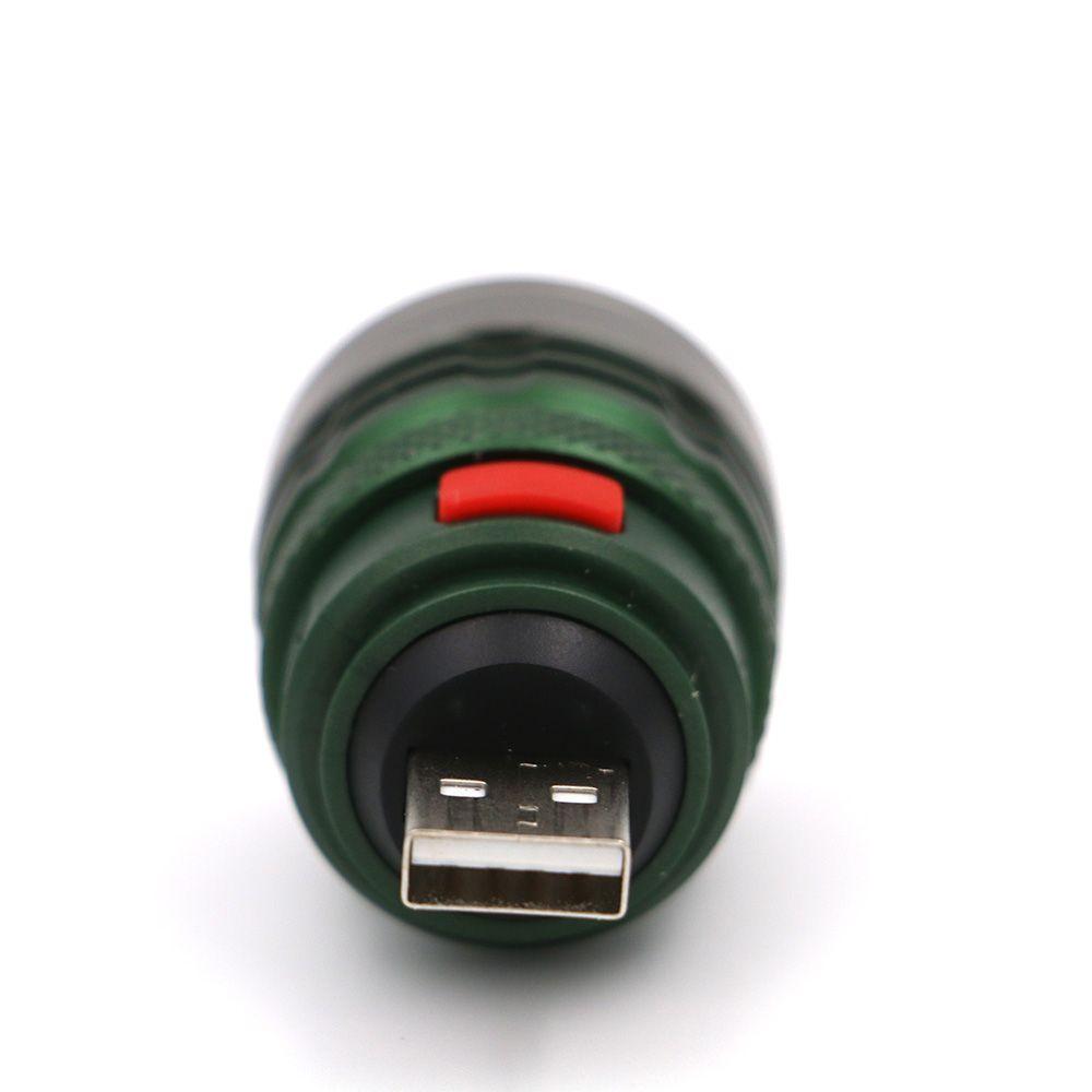 2017 Ultra Bright Portable Flashlight mini Zoomable 3 modes USB Flash light torch lanterna Power by USB interface power bank