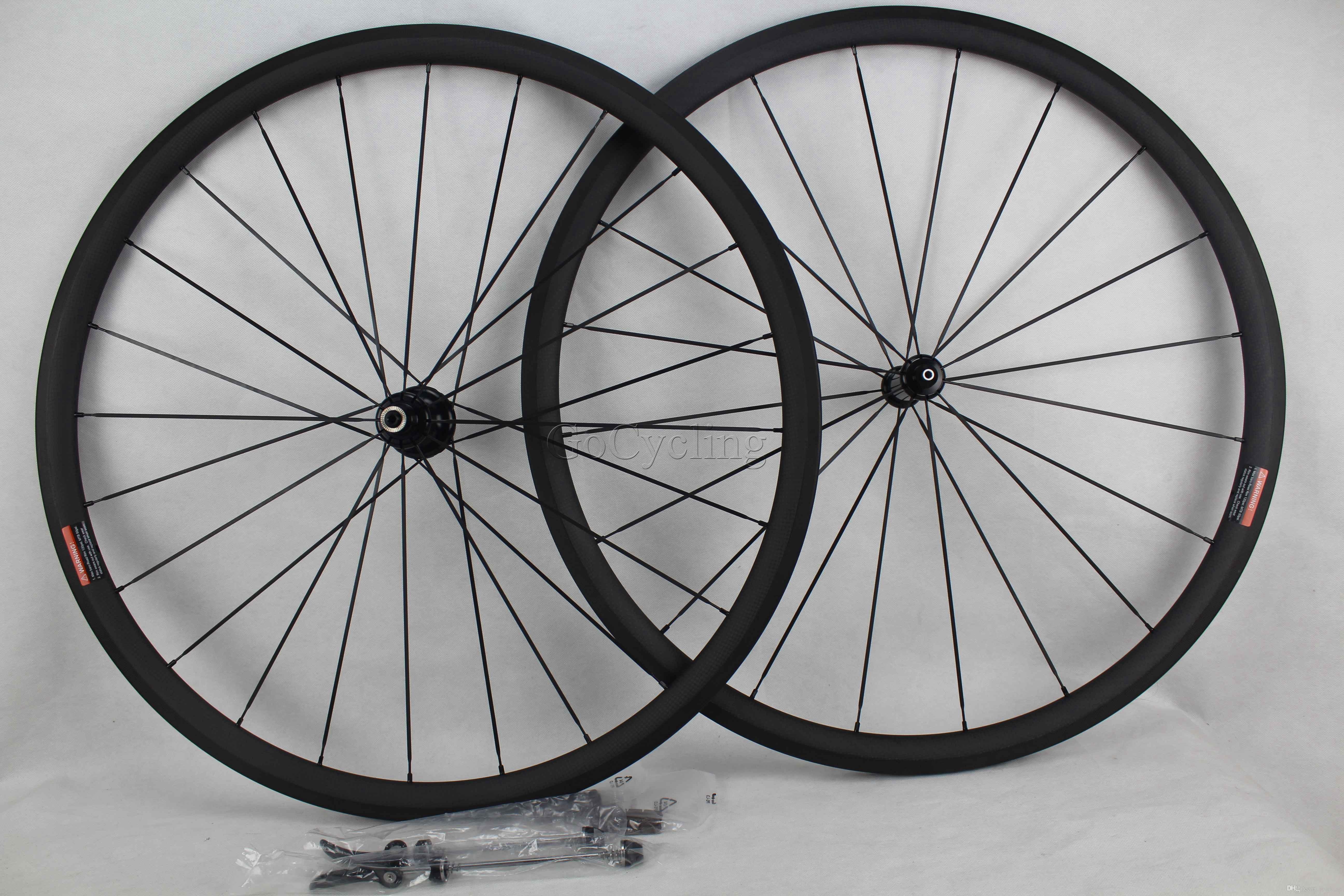 탄소 자전거로드 휠 림 깊이 30mm 너비 25mm clincher 관형 도로 자전거 wheelsets 현무암 제동 표면 powerway r36 탄소 허브