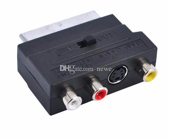 NEW RGB Scart to Composite 3 RCA S-Video AV TV Audio Adapter Converter Scart to RCA