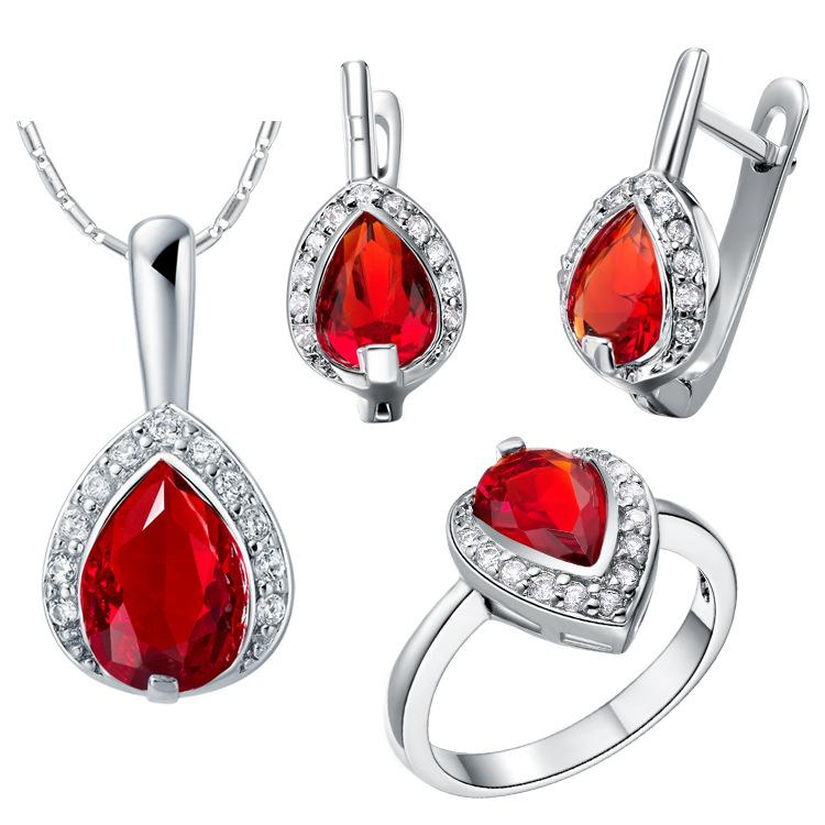 925 Sterling Silver pendant Earrings ring Women Gift word Jewelry sets NEW suit made water suit fashion jewelry exported iPod explosion Zi