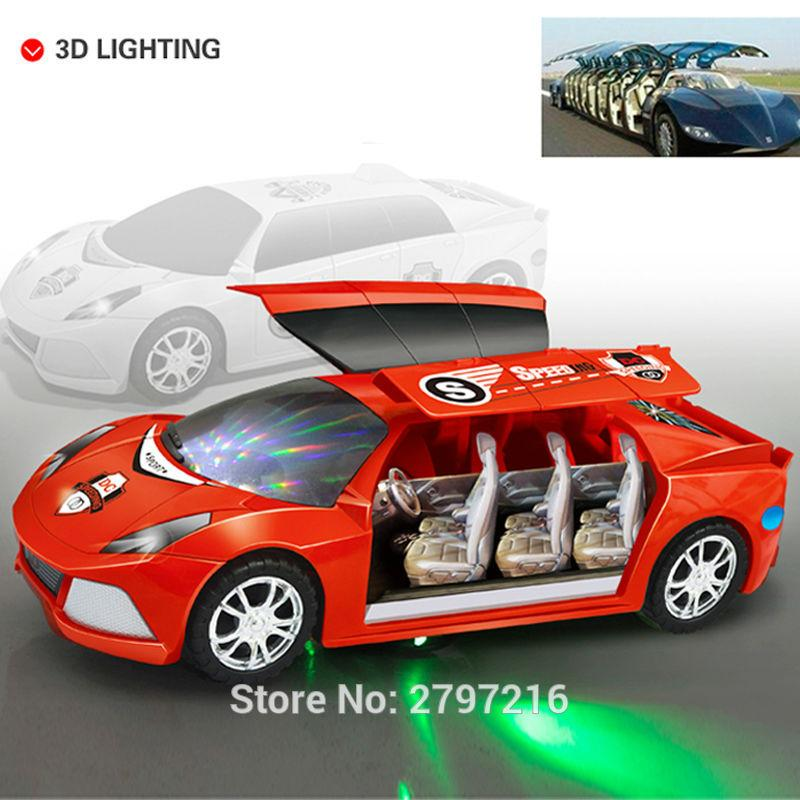 2017 hot sale funny 3d flashing led light music car with sound electric toy cars kids toy childrens gift diecast toy vehicles from love6love