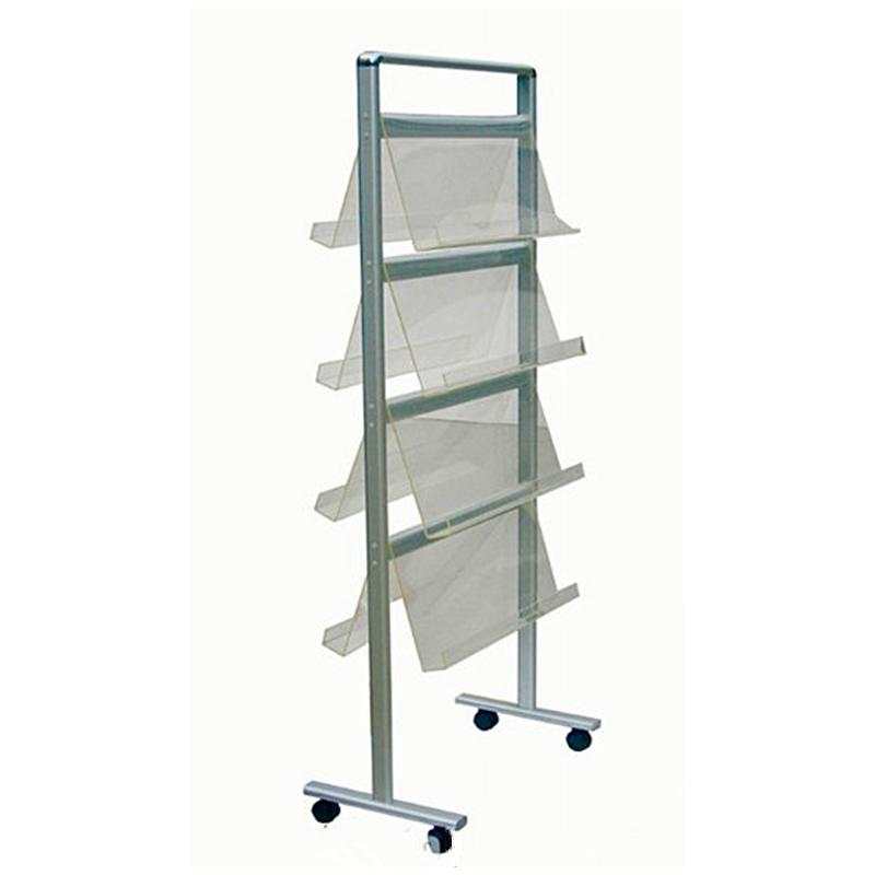 2018 Stairs Brochure Stand/Mobile Literature Rack With Lightweight Aluminum  Frame Acrylic Holders Base 360 Degree Wheels From Berg555, $231.16 |  Dhgate.Com