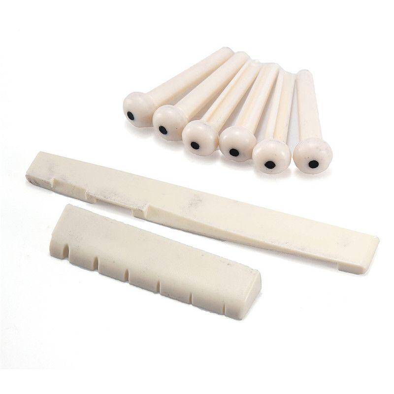 1A Set of Bridge Pins + 1* Classical Guitar Bone Nut +1*Bony Saddle for Choose Guitar Parts & Accessories