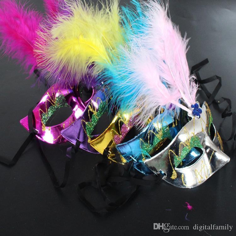 Maschere farfalle a LED Maschera feste con paillettes Maschera feste a led di Halloween Maschera adulti Maschera lanugine luminose bambini Maschera lanugine luminose veneziane