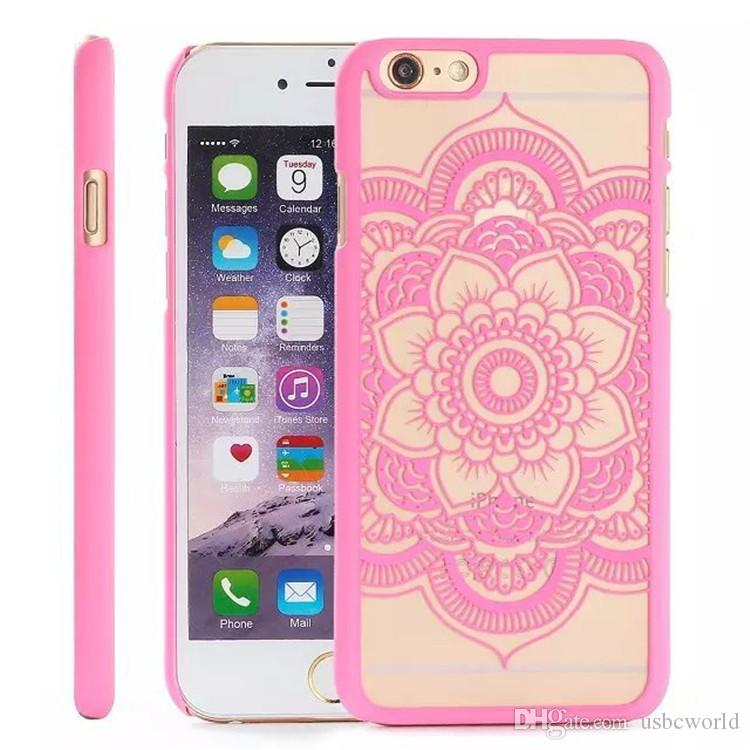 Madala Flower Cases Hard PC Clear For Iphone 5 SE 6S 7PLUS By DHL