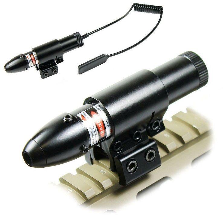 Red Dot Laser Sight High Luminosité Laser Double Click Switch à distance 11mm / 20mm Rail pour fusil Airsoft Gun
