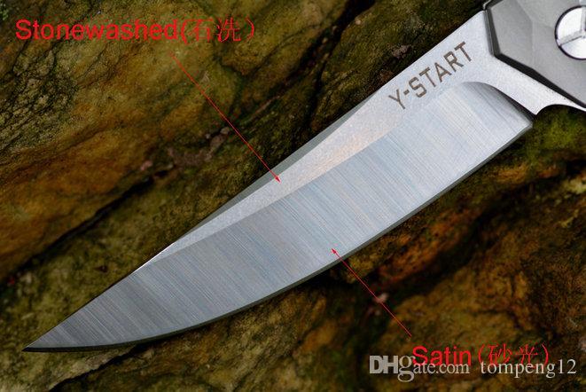 2017 mais recente versão vento y-start guerreiro faca dobrável de lavagem de pedra A161 A162 A163 camping faca de caça faca dobrável