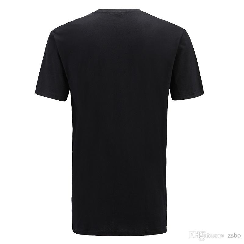 2017 Streetwear Brand Clothing Men's t shirt Hip Hop Zipper Split t-shirt white long line tops men short sleeve tees tall BMTX06 F