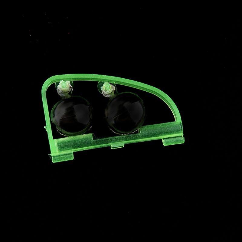 Angelzubehör Rod Tipp Fisch beißen Doppelalarm Alarm Clip Bell Tool für Angelgerät Werkzeuge Nachtangler Glow in the dark