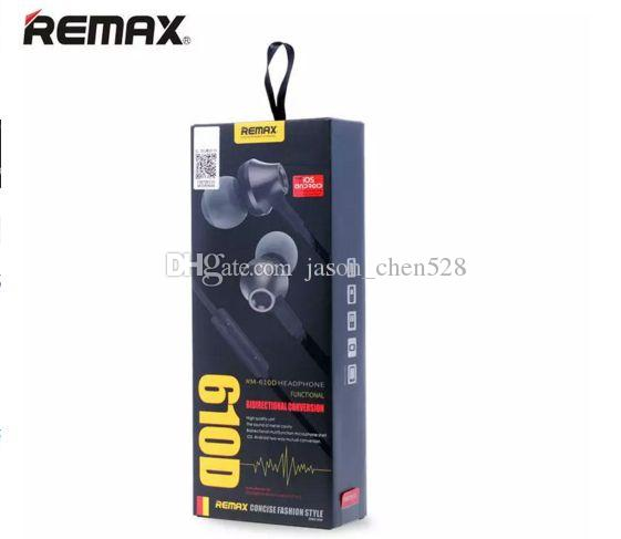REMAX RM-610D In-Ear Headphone Stereo Earbuds Noodle Earphones With Microphone Tangle-Free Cord For smart phone Android Phones Table