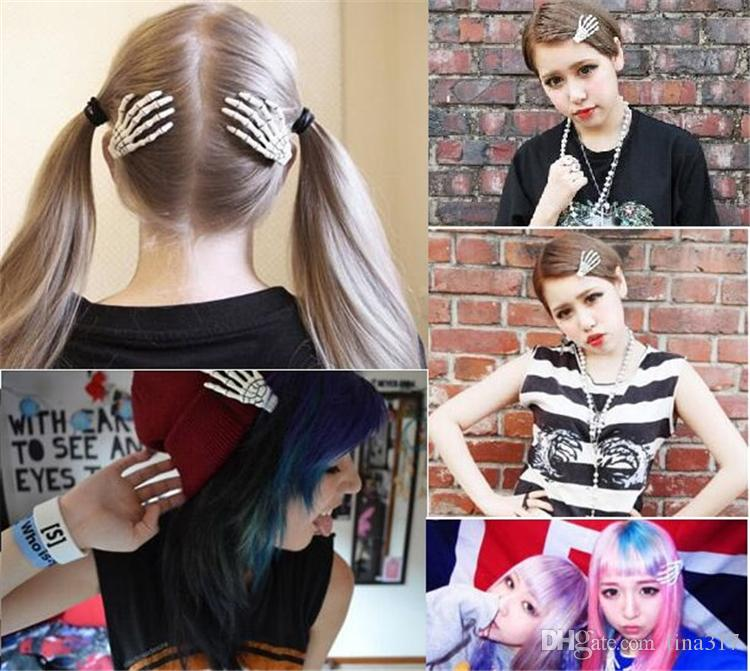 Newest Halloween decoration barrettes hair for women ghost skeleton of hand Hair Clips personality gripper hairpin C086
