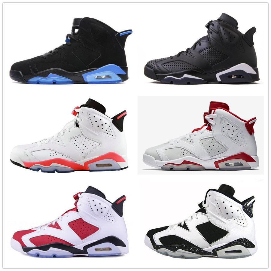 timeless design 6f366 eab29 Compre Classic 6 Oreo UNC 6S Negro Azul Blanco Infrarrojo Zapatillas De  Baloncesto Carmine Black Cat Alternate Red Sport Blue Blue Granate  Zapatillas Para ...