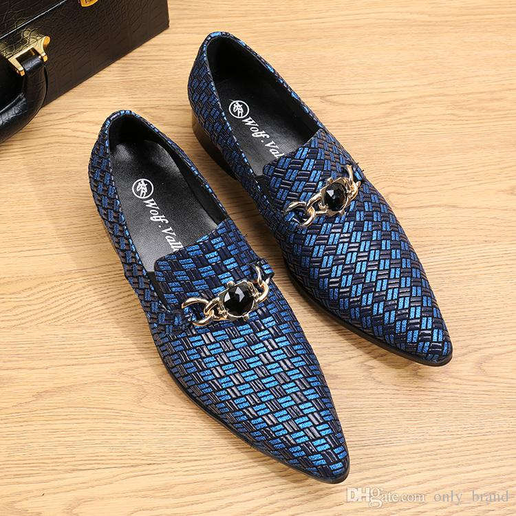 Fashion Mens Leather Shoes Casual Shoes Nubuck Skin Printed Skin Comfortable Shoes Pointed Head Slip On