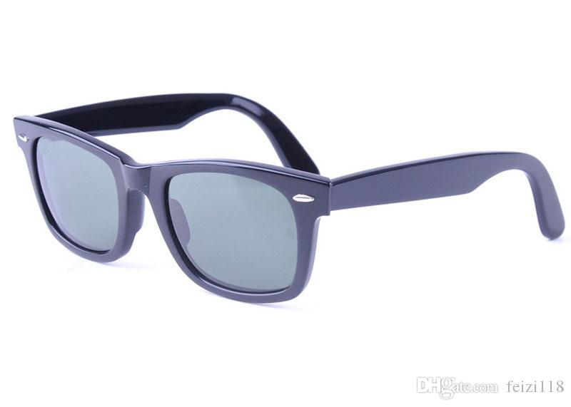 AOOKO Hot Sale Men Glass Gray Dark Green lens Sun Glasses Outdoor UV Protection Women oculos de sol masculino Sunglasses