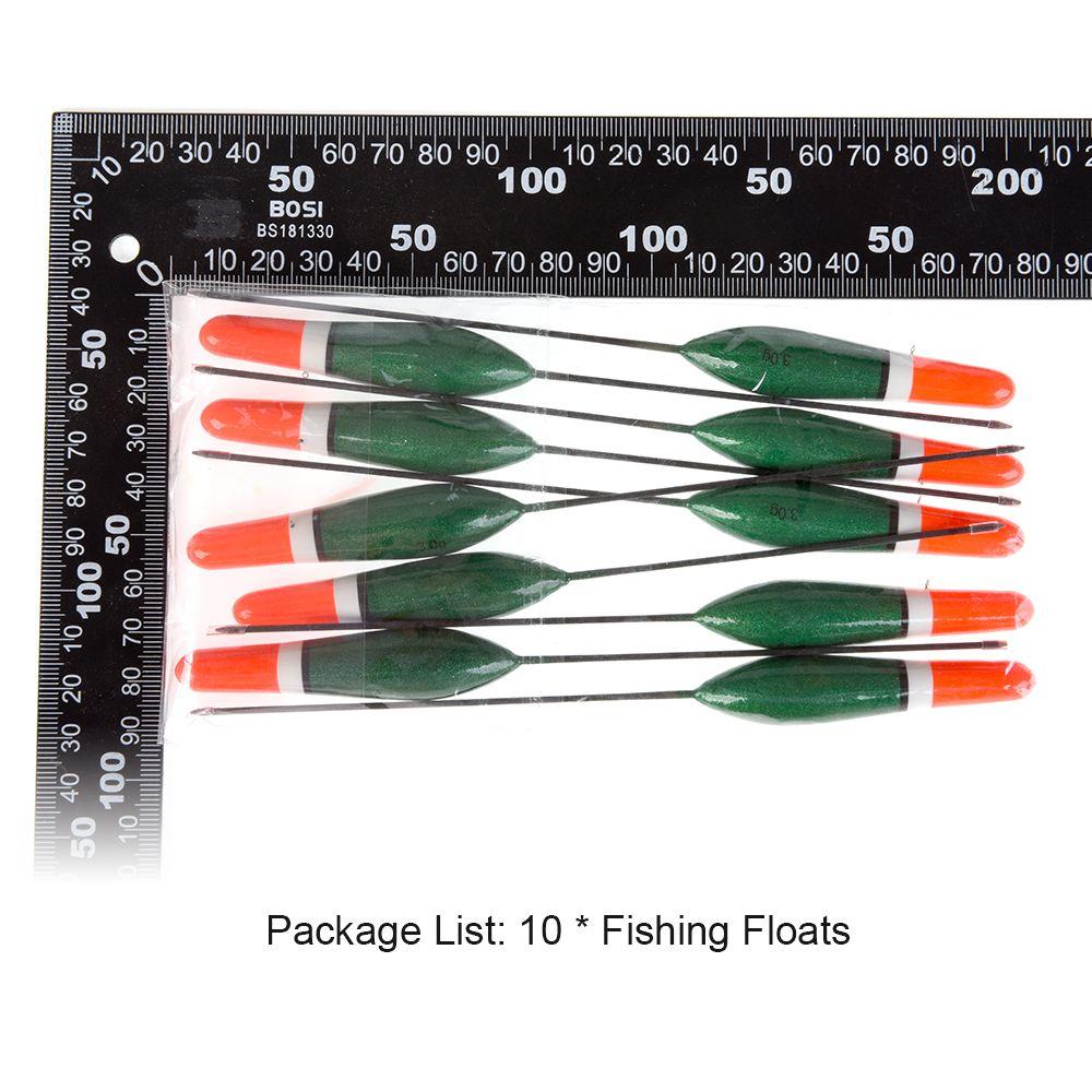 Оптовая профессиональная зеленая 16 см 3G 10 шт. / комплект Рыбалка Поплавки Paulownia Wood Flule Flotteur Pesca Peche Flote Tool