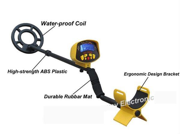 MD3010II Ground Searching Metal Detector Gold Digger Waterproof LCD Long Range Underground underground Coil stone detector MD-3010II Seach