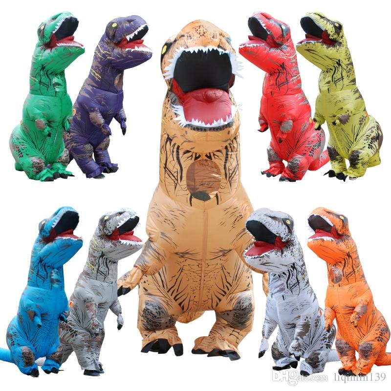 giant inflatable t rex dinosaur costume jurassic world park blowup dinosaur halloween inflatable costume party mascot costume for adult halloween costumes
